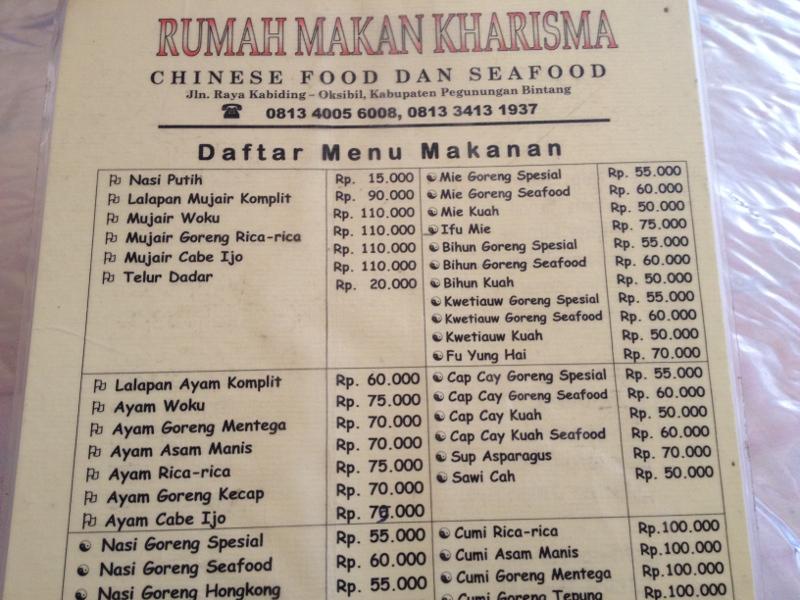 Harga Makanan Di Oksibil